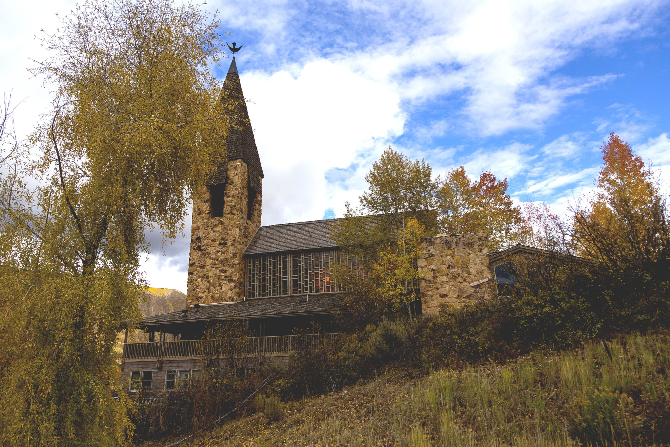 Aspen Chapel in the Fall